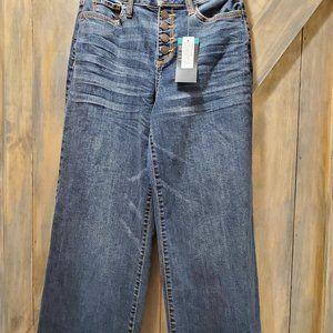 a.n.a NWT Wide Leg Cropped Jeans SZ-2